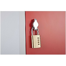 Twist lock will accept a padlock if required