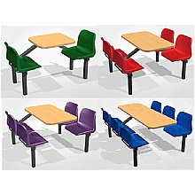 Canteen seating fast food diner cafe bistro units