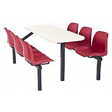 canteen seating school bistro diner 6 seater 1 way