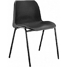 Black ECO polypropylene stacking chairs