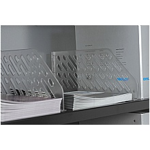 Slotted Shelf Black and Clear Dividers