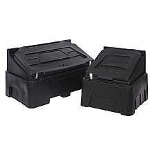 200 & 400 black recycled grit bins