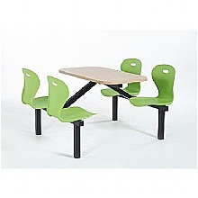 Four Seater Lotus Canteen Seating Units, Lime