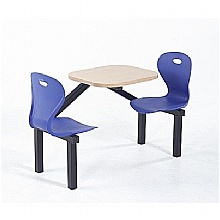 Two Seater Lotus Canteen Seating Units, Blue