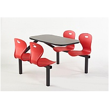 Four Seater Lotus Canteen Seating Units, Red