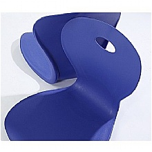 Blue Polypropylene Seats for canteen seating